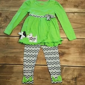Nannette Kids (5) Green Dog Outfit